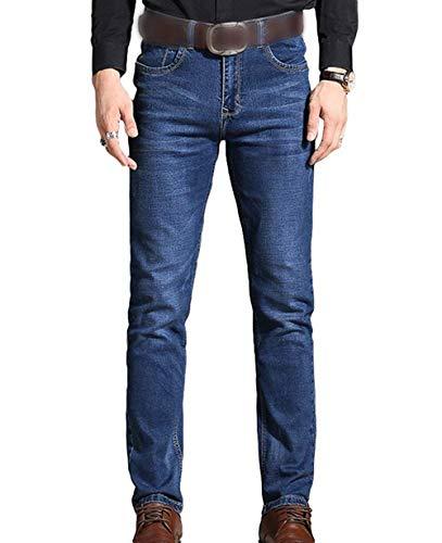 Lannister Fashion Pantalones De Mezclilla Ocasionales De Los Pantalones del Skinny Vaqueros Vintage Pantalones Delgados del Dril De Algodón Estiramiento Pantalones Rectos Cómodos del Dril De Algodón Blau