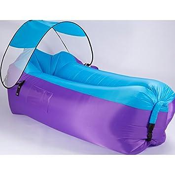 Sillón de paseo inflable, sofá de aire portátil al aire libre sofá saco de dormir