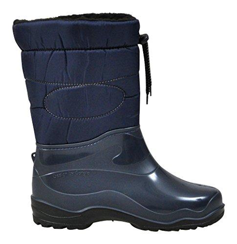 Stivali Stivali Stivali Blu Outdoor Outdoor Outdoor Impermeabili scuro Donna Neve da Lukpol OzwvqS1S
