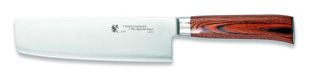 Tamahagane San SN-1165H - 7 inch, 180mm Nakiri Vegetable Knife by Tamahagane