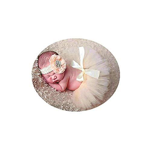 Multicolor Coberllus Newborn Baby Photo Shoot Props Girl Boy Lovely Costume Rainbow TuTu Dress Flower Headband Photography Props 0-3 Months