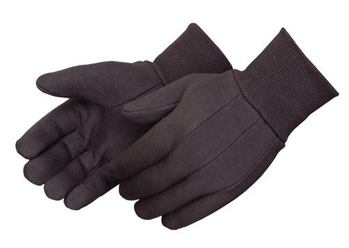 Brown Jersey Gloves (12 pair or 1 Dozen) by Liberty Glove & Safety Brown Jersey Clute Pattern
