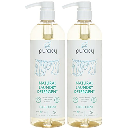 (Puracy Liquid Laundry Detergent [192 Loads], Plant-Based for Sensitive Skin, Free & Clear, 24)