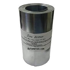 Zinc Roof Armor - 6 inches Wide Zinc Str...