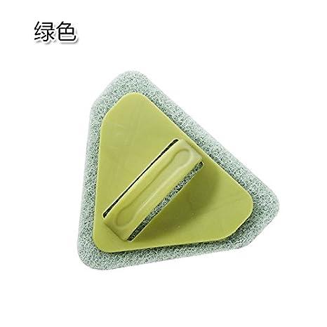 KXZDAS WC triángulo baño Cepillo Cepillo para Fregar el Suelo del baño Cocina Azulejos descontaminación Esponja para Limpiar la Estufa Cepillo de Limpieza ...