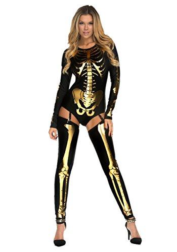 Forplay Women's Skin and Bones, Black, Large/X-Large