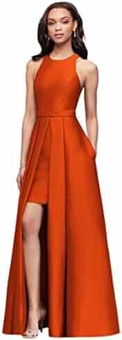 651cacfe50 David s Bridal Mikado Bridesmaids Walkthrough Ball Gown Bridesmaid Dress  Style F19822