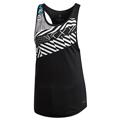 adidas Women`s Paris Tennis Tank Black (Medium Black)
