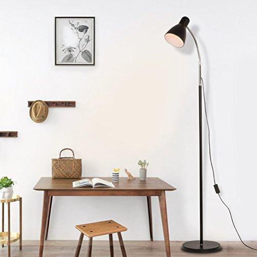 Pour Noir Creative Moderne Vbimlxft Led Lampe E27 Lampadaire Fer JlKcF1