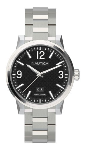 Nautica A18595G 43mm Steel Bracelet & Case Men's Watch