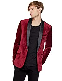 GUESS Factory Men's Raffi Velvet Blazer