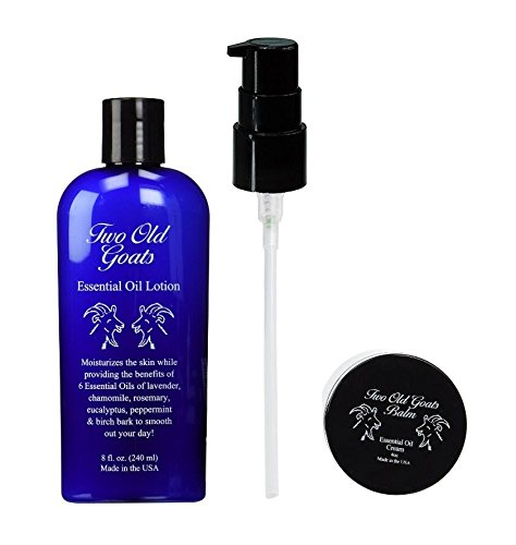 2 pk Includes (1) 8 oz Two Old Goats Essential Lotion & (1) 4 oz Two Old Goats Foot Balm. ()