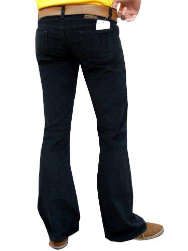 Noir Homme Evasé X Pantalon 32w Bootcut Fuzzdandy 32l W81wPFEqwz