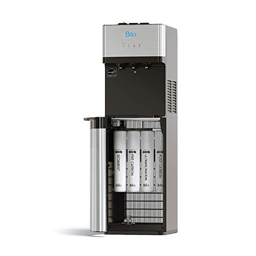 Brio Self Cleaning Bottleless Water Cooler Dispenser, UL/NSF/Energy Star, Stainless Steel, Point of Use Drinking Water Filter, Hot, Cold, and Room Temperature