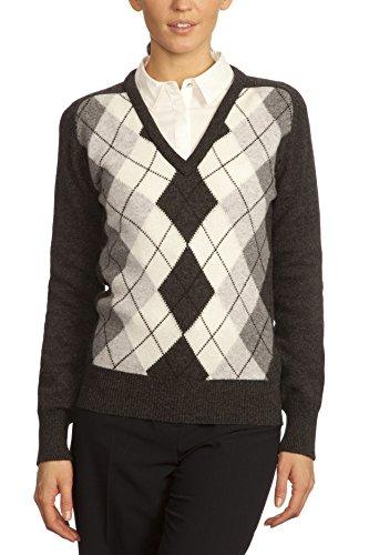 Women Argyle Sweater - 5