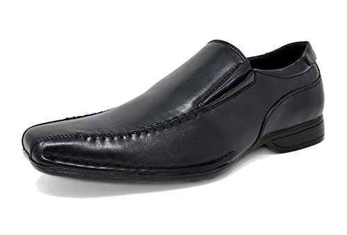 Bruno Marc Men's Giorgio-2 Black Leather Lined Dress Loafers Shoes - 12 M US