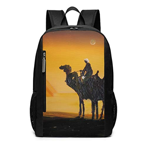 Egypt Pyramids Camel Laptop Backpack 17inch- School Travel Backpack Casual Daypack For Business/College/Women