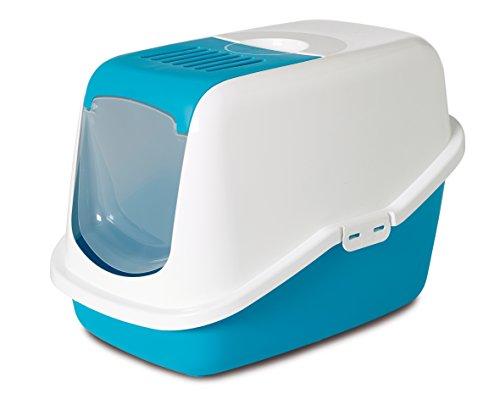 Nobby 72158″Nestor Cat Litter Box, 56 x 39 x 38.5 cm, Blue