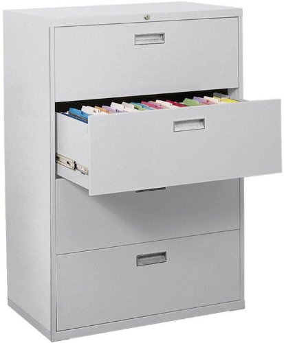 -03 600 Series 4 Drawer Lateral File Cabinet, 19.25