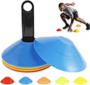 20 Pcs Pro Disc Cones, Marker Cones Set for Training, Football, Basketball, Sports, Field Cone Markers Outdoor