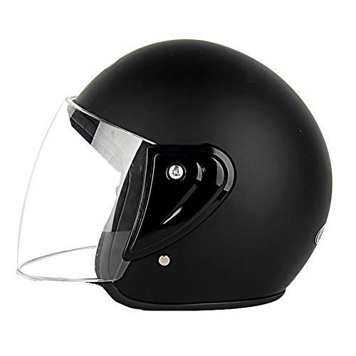 GHL Abierto Motocicleta Casco Cuatro Estaciones Hombres Mujeres Medio Casco Robusto Cabeza Protección Circunferencia Cabeza...