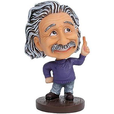 Desk Decoration Albert Einstein Bobblehead/Einstein Doll Car Dashboard Bobblehead Accessories (Purple): Toys & Games