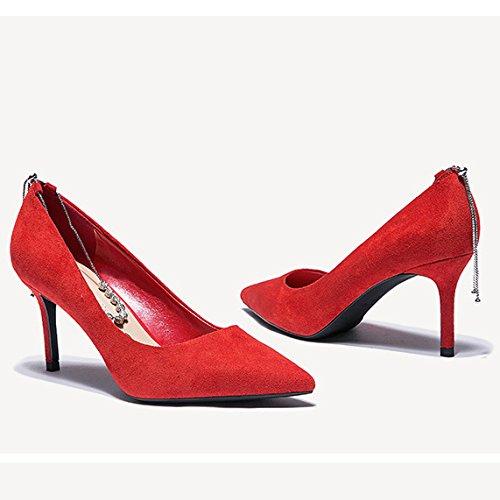 De La Boda Partido Rojos De Zapatos De Red Tacón De Corte Nocturno Club De Trabajo De La Alto Zapatos Mujer Zapatos De Boda La De 2 del La 34 UK snfgoij EU 7cm Mujer Rhinestone Moda 0FnWW