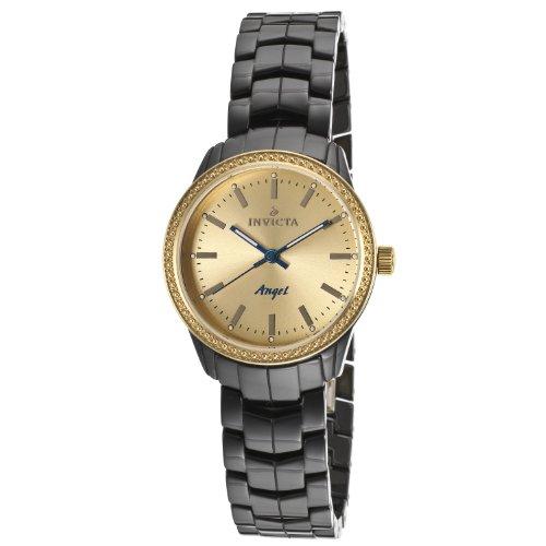 Invicta Women's 14913 Ceramics Gold Dial Black Ceramic Watch (Invicta Ceramic)