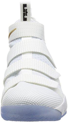 Nike Hombres Lebron Soldier 11 Sfg Ep, Blanco / Negro-metalico Oro Blanco