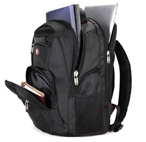 Swiss Gear Wenger Travel School Business Military Multifunction Tactical Backpacks Laptop Smartphone Tablet Bags (Black)