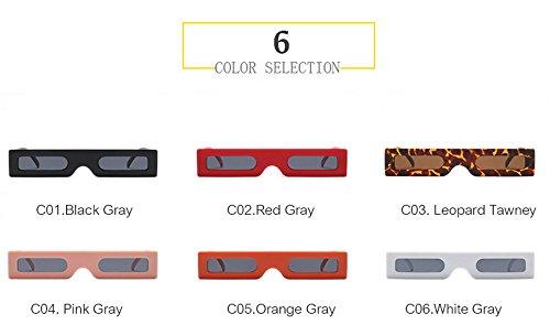 gafas sol marca400 mujeres Uv Blanco Blanco negro Gafas Gris de moda 2018 gafas señoras Roja qbling rectángulo Vintage Rosa technolog qxS6wXXOT