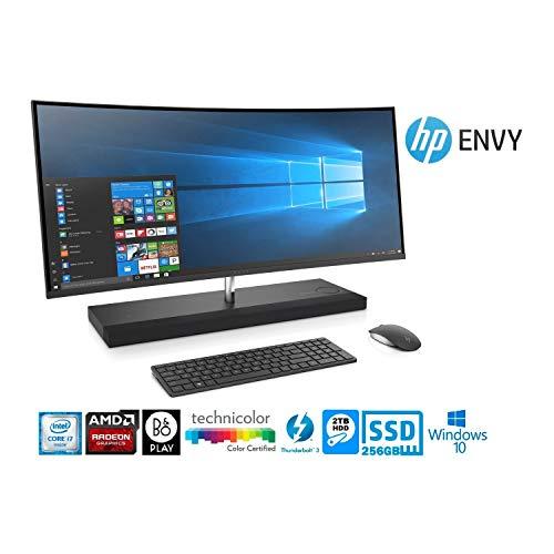 (HP Envy Curved 34-B017C AIO 230W Intel:i7-7700T/CI7-2.90G 16GB/2-DIMM 2TB/5400RPM+256GB/PCIE Win10 Home (Renewed) )