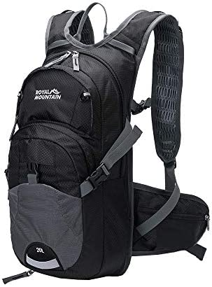 ROYAL MOUNTAIN 20L Hydration Pack, Water-Resistant and Lightweight Cycling Backpack for Short Day Commute Cycling Mountain Biking