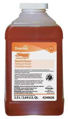 Diversey 94240626 CPC 2.5 Litre Stride Fragrance Free Neutral Cleaner - Case of 2