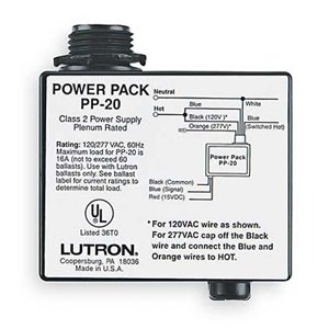 Lutron PP-20 Power Pack For Lutron Ballast Only 120/277V 16AMP 16A Class 2 Power Supply