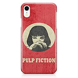 Loud Universe Mia Wallace of Pulp Fiction iPhone XR Case Retro Movie iPhone XR Cover with 3d Wrap around Edges