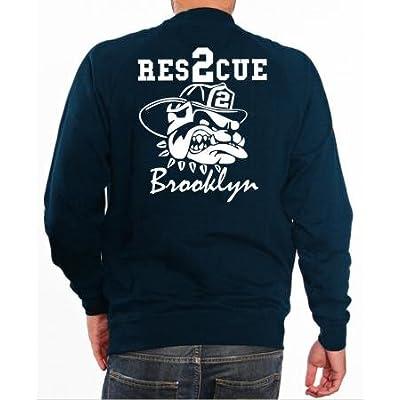 "'Sweat ""Rescue 2–Pompiers avec Fire Fighting Bulldog–BROOKLYN–New York"