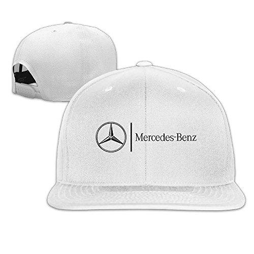 hmkolo-mercedes-benz-cotton-flat-bill-baseball-cap-snapback-hat-unisex-white