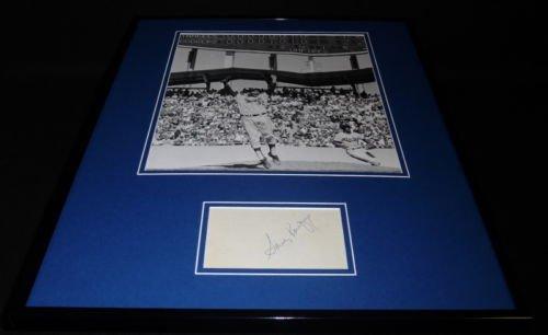 (Sandy Koufax Signed Framed 16x20 Photo Display JSA Dodgers)