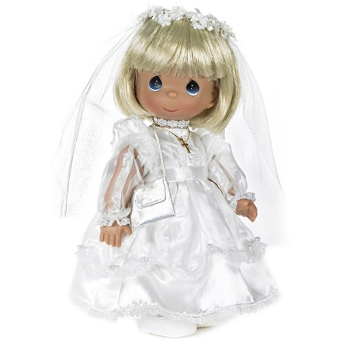 Precious Moments Dolls by The Doll Maker, Linda Rick, My First Communion, Blonde, 12 inch - Mall Outlet Foley