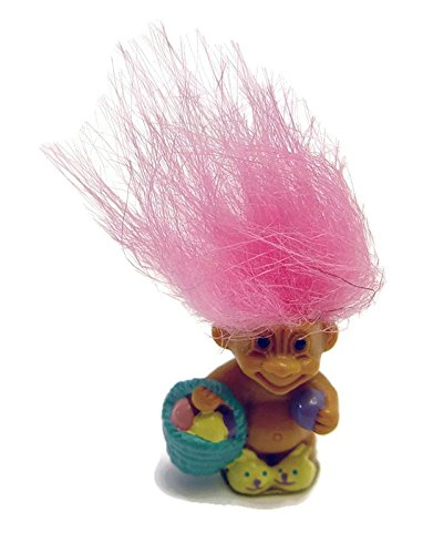 Pink Haired Mini Easter Troll Doll By Russ 1