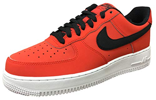 Nike Air Force 1 '07 Leather Men's Shoes Habanero Red/Black/White aj7280-601 (10.5 D(M) US) ()