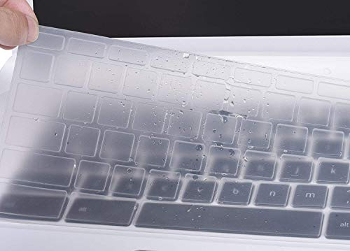 ASUS Chromebook Flip C302CA Keyboard Cover, CASEBUY Silicone Anti Dust Keyboard Protector Skin ASUS Chromebook Flip C302CA 12.5-Inch Chromebook Laptop, Clear