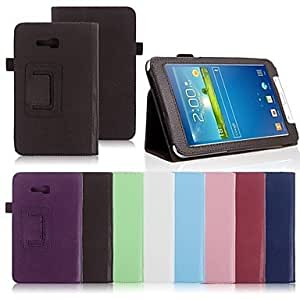 YULIN Tableta Samsung - Carcasas de Cuerpo Completo/Fundas con Soporte - Color Sólido/Nombre de Estilo Marca - para Samsung Tab 3 Lite (T110) ( , Light Blue