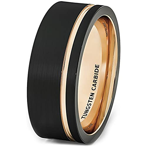 Black Gold Wedding Bands Amazoncom