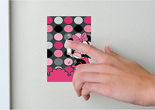 Timeless Invites MINNIE MOUSE POLKA dOT - Light switch Cover- MINNIE POLKA DOT- Switch Plate Cover