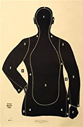 "(30x) Shooting Targets Law Enforcement Police Silhouette 23""x35"" 25 yard B-21-E-BK"