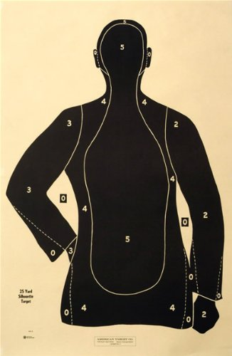 "(30x) Shooting Targets Law Enforcement Police Silhouette 23""x35"" 25 yard B-21-E-BK"