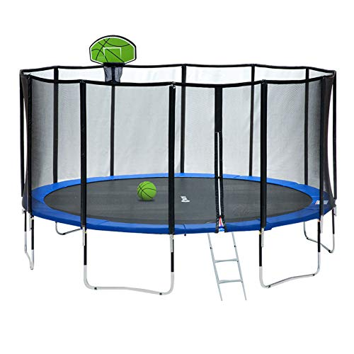 Exacme 15 FT Round Trampoline with 400 LBS Weight Limit Upgraded Carbon Fiber Support Pole