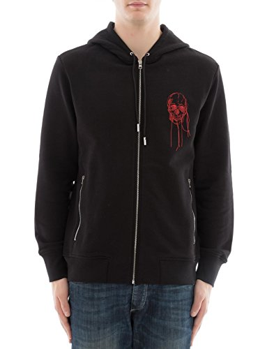 Alexander McQueen Men's 487969Qkz540901 Black Cotton Sweatshirt by Alexander McQueen